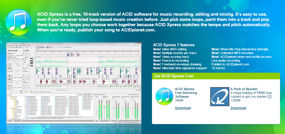 Download sony acid for free